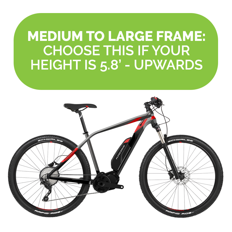 Medium to Large frame: Choose this if your height is 5\'8 upwards ...